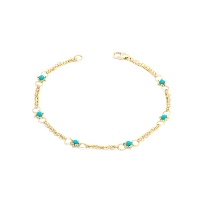 Amali Whisper Chain Bracelet in Turquoise