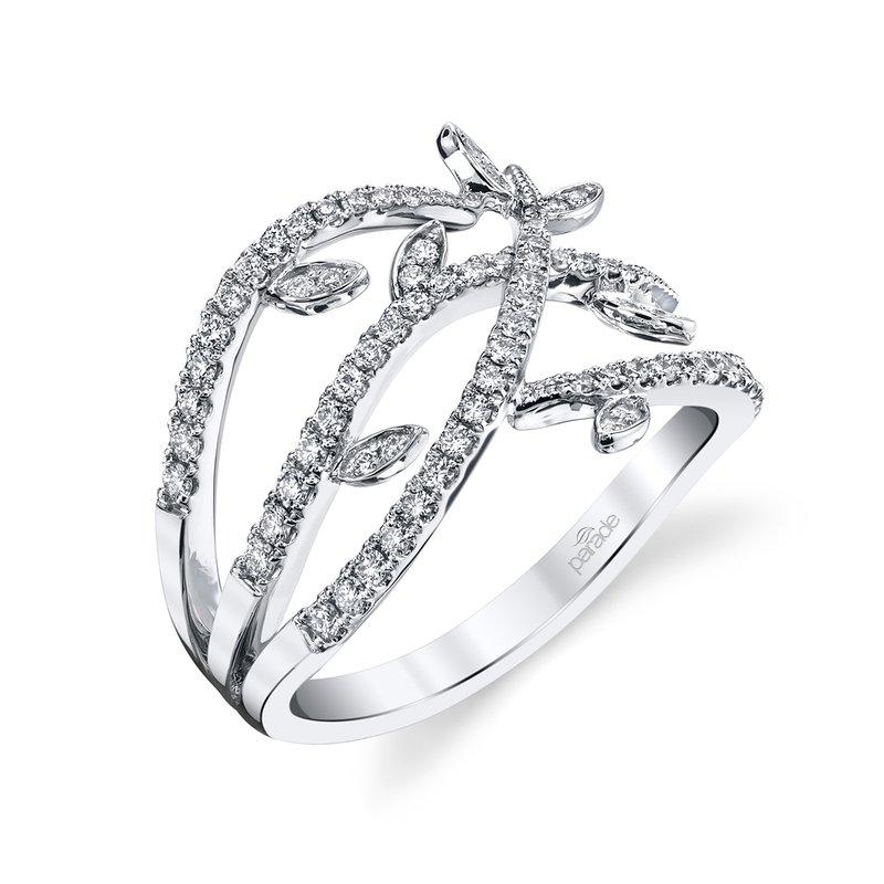Parade Design Lyria Leaves Wide Diamond Band BD3770A