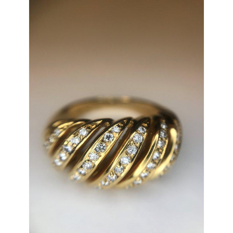 Antique, Estate & Consignment Swirl Diamond Ring