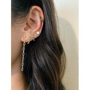 Diamond Wild Palm Stud Earring