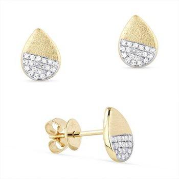 Pear Shape Diamond Cluster Earrings