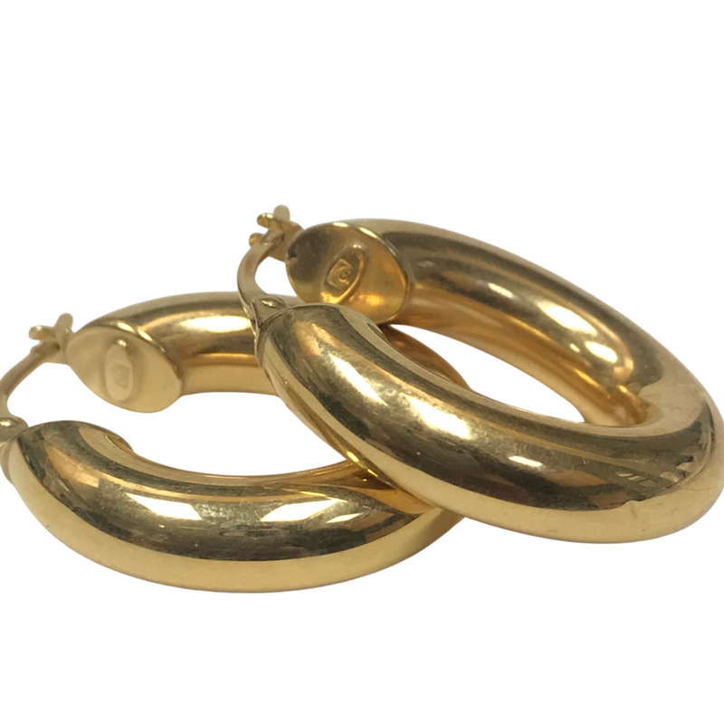 Antique, Estate & Consignment 18k Yellow Gold Hoop Earrings