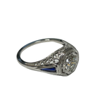 Antique, Estate & Consignment Diamond & Synthetic Sapphire Vintage Ring