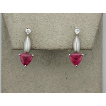 Paul Klecka Pink Tourmaline Earrings