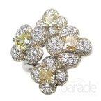 Parade Design Yellow Diamond Flower Ring