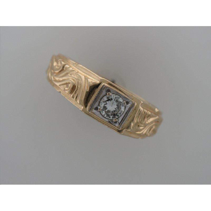 Antique, Estate & Consignment Engraved Diamond Ring