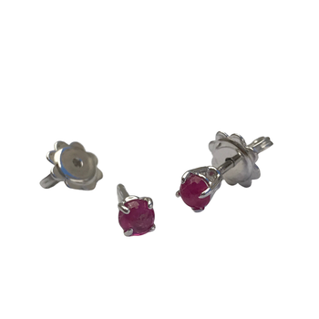 Cabochon Ruby Earrings