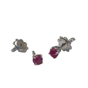 Cabochon Ruby Earrings