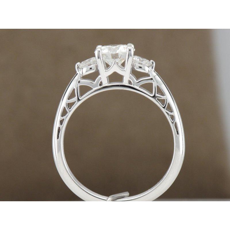 Hurdle's Custom Designs Three Stone Diamond Engagement Ring