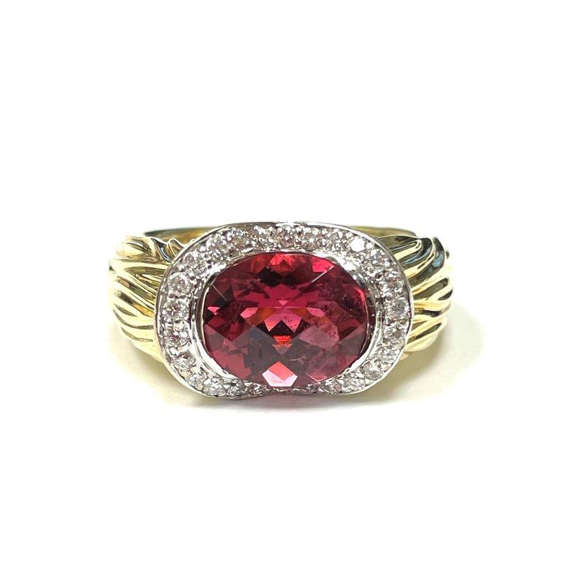 Antique, Estate & Consignment Pink Tourmaline & Diamond Ring