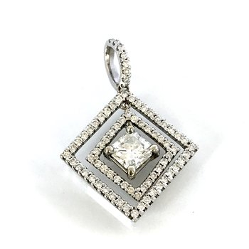Lucere Double Halo Diamond Pendant