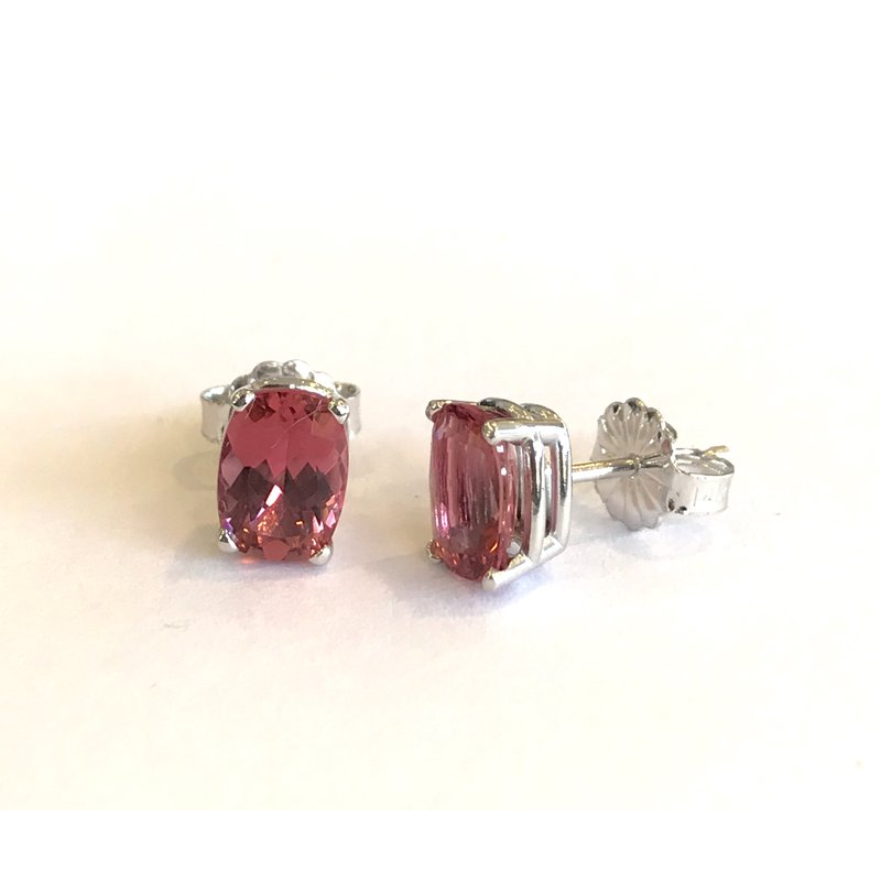 Hurdle's Jewelry Collection Oval Pink Tourmaline Stud Earrings
