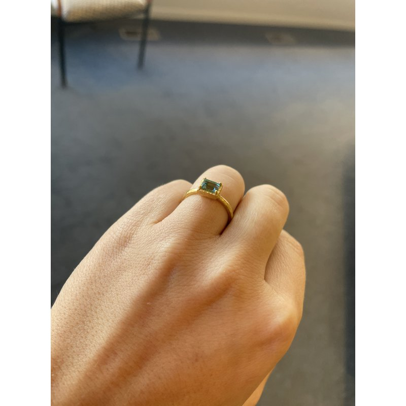 Yasuko Azuma Jewelry Blue Tourmaline Ring