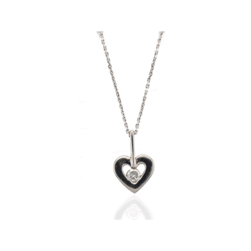 Antique, Estate & Consignment Diamond Heart Necklace