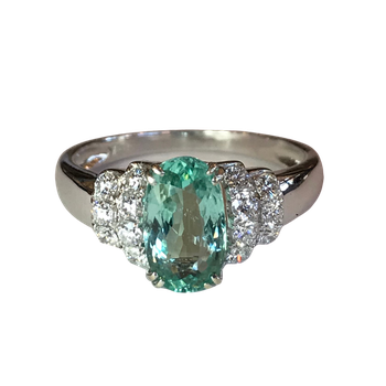 Paraiba Tourmaline & Diamond Ring - With GIA Origin Report