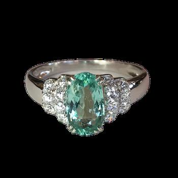 Paraiba Tourmaline & Diamond Ring - With GIA Origin Report