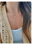 EF Collection Gold XO Initial Necklace