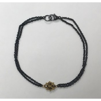 Woven Champagne Diamond Station Bracelet