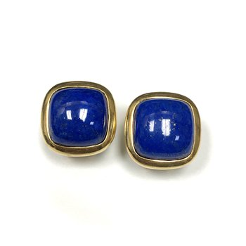 Cabochon Lapis Earrings