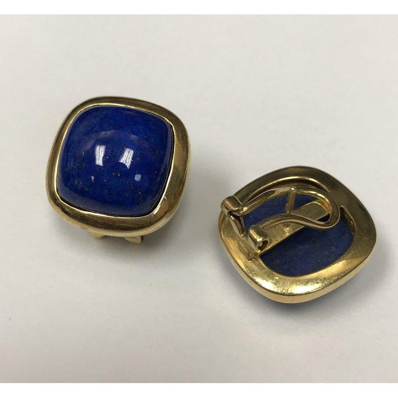 Antique, Estate & Consignment Cabochon Lapis Earrings