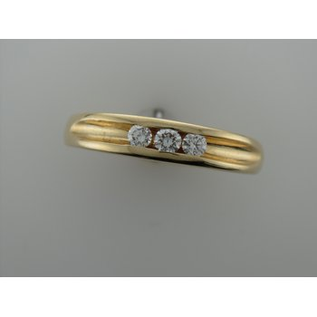 Yellow Gold Men's Diamond Band