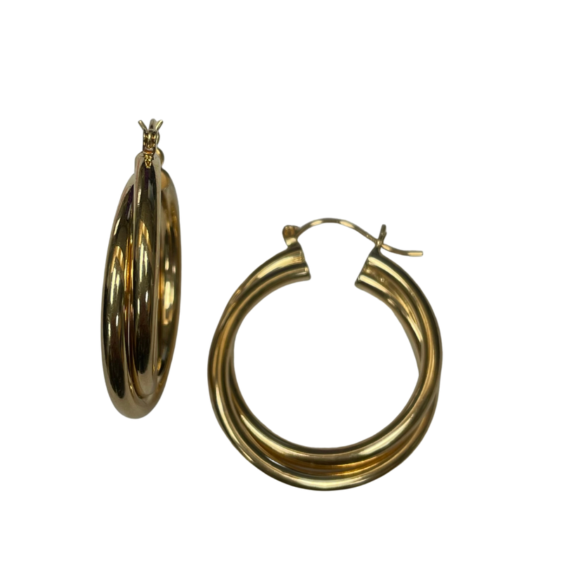 Antique, Estate & Consignment Double Twist Hoop Earrings