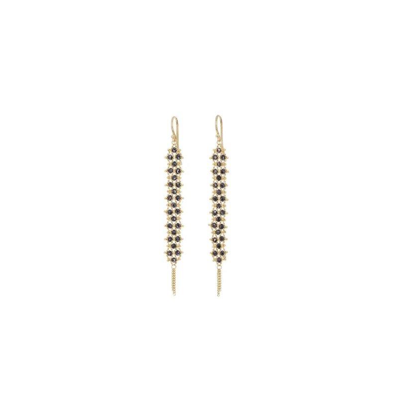 Amali Textile Black Diamond Earrings