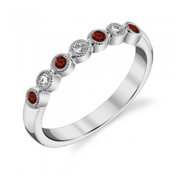 Garnet & Diamond Anniversary Band