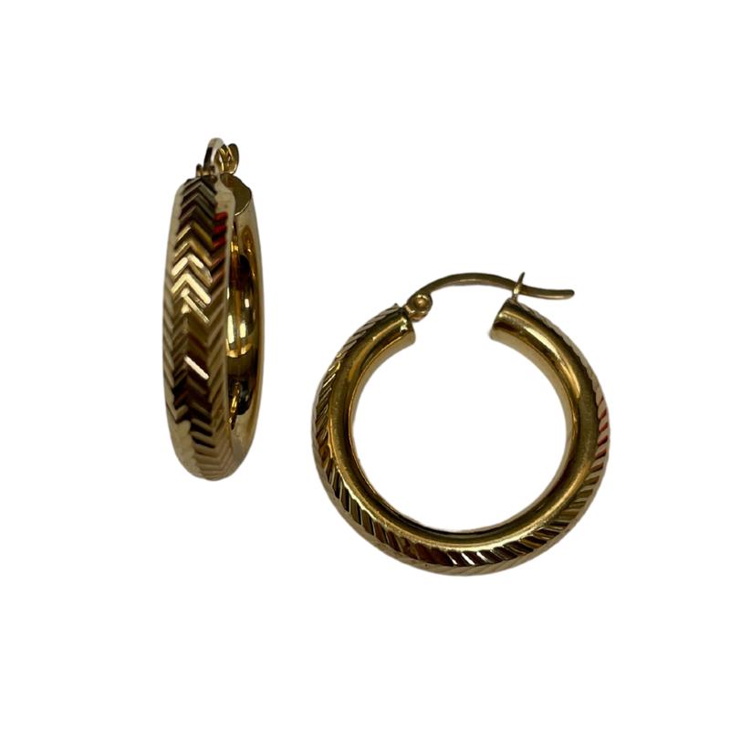 Antique, Estate & Consignment Chevron Hoop Earrings