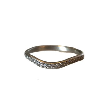 Curved Platinum Diamond Band