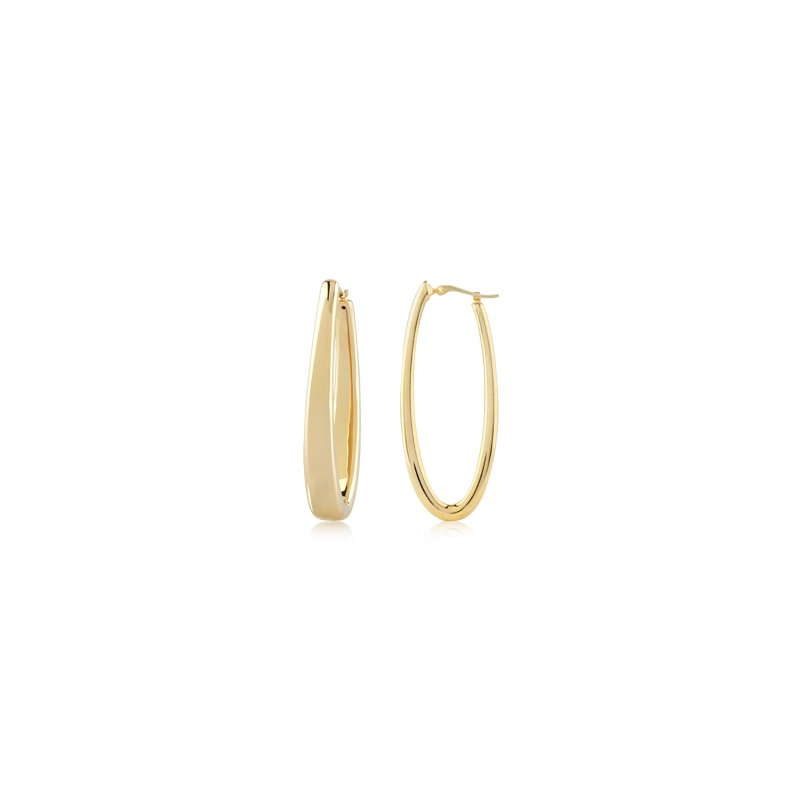 Carla Nancy B Gold Oblong Hoop Earrings