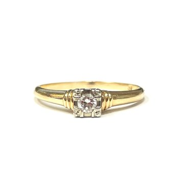 14k Gold Solitaire