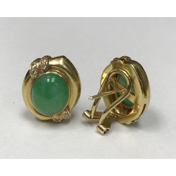 Jadeite & Diamond Earrings