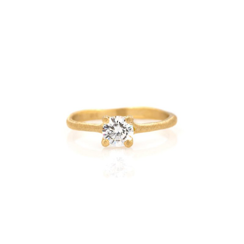 Yasuko Azuma Jewelry Solitaire Diamond Ring