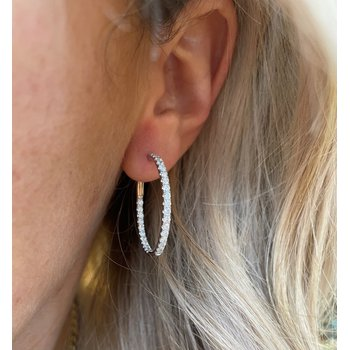 1.50 Carat Diamond Inside/Outside Hoop Earrings