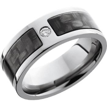 Titanium, Carbon Fiber and Diamond Band
