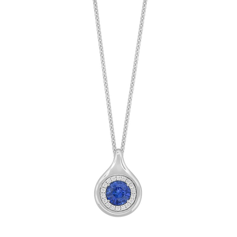 Spark Creations Sapphire & Diamond Necklace