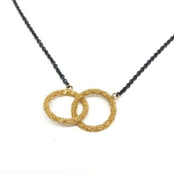 Stardust Interlocking Circles Necklace