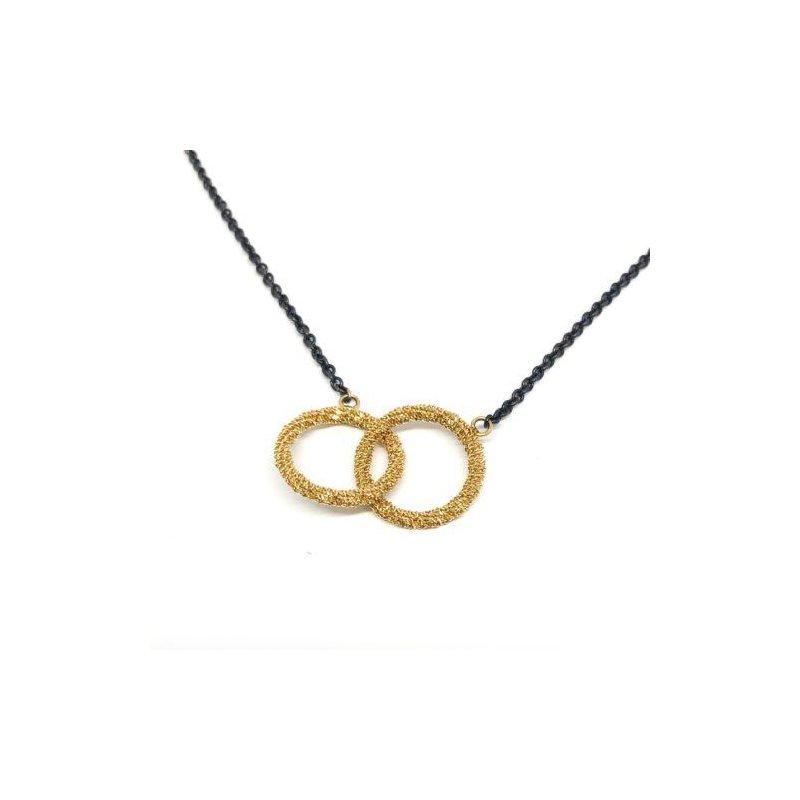 Amali Stardust Interlocking Circles Necklace