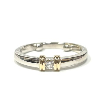 Diamond Stackable Two Tone Ring
