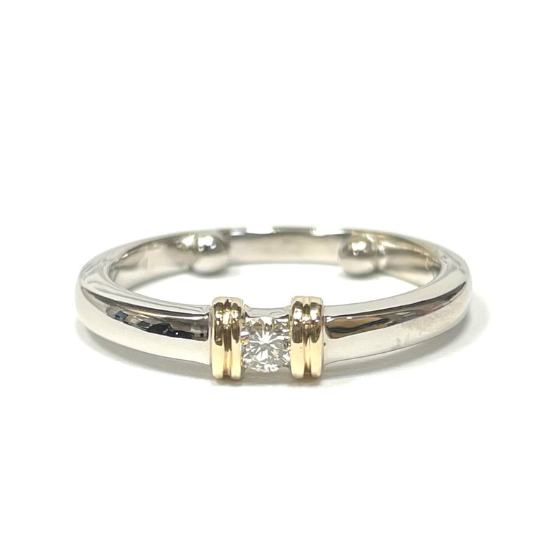 Antique, Estate & Consignment Diamond Stackable Two Tone Ring