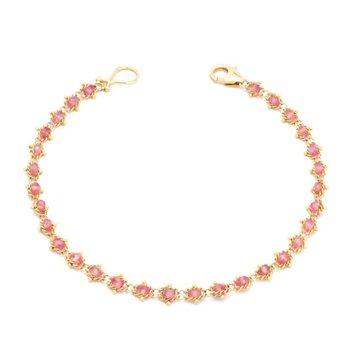 Textile Bracelet in Spinel