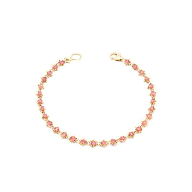 Amali Textile Bracelet in Spinel