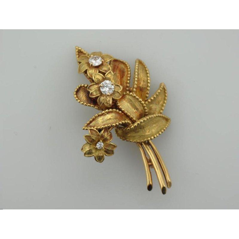 Antique, Estate & Consignment Tiffany & Co. Gold & Diamond Brooch