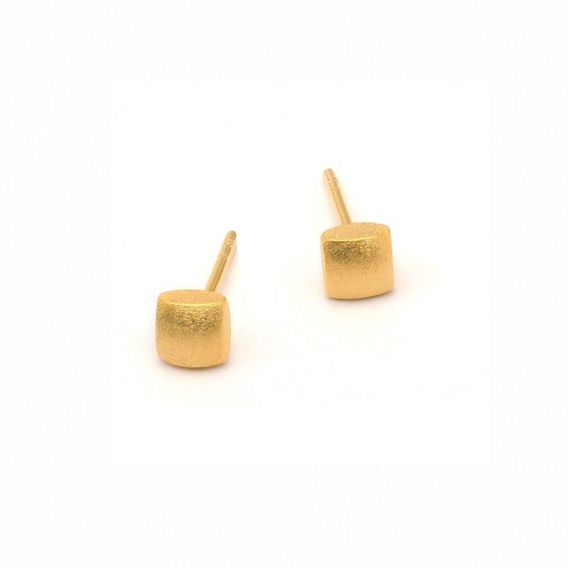 Bernd Wolf Ocho Gold Plated Stud Earrings