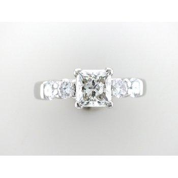 Princess Cut 5 Stone Engagement Ring
