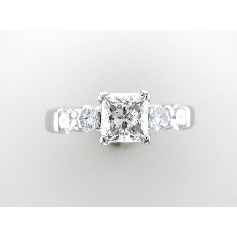 Antique, Estate & Consignment Princess Cut 5 Stone Engagement Ring