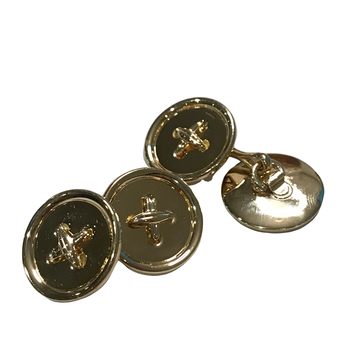 18k Button Cuff Links