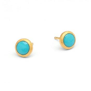 Rund Turquoise Stud Earrings