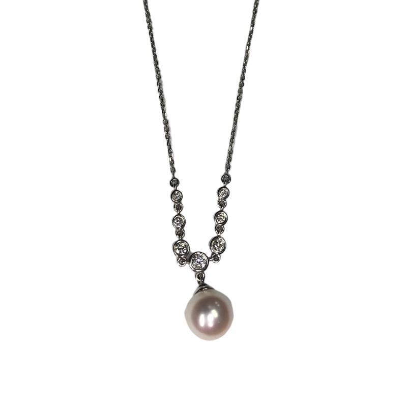 Antique, Estate & Consignment Pearl & Diamond Y Necklace